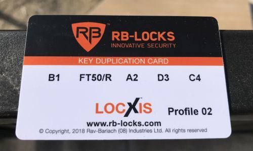 RB kódkártya