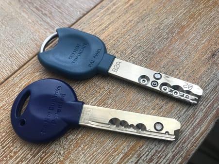 TerraSec ajtóhoz való biztonságos zár kulcsai