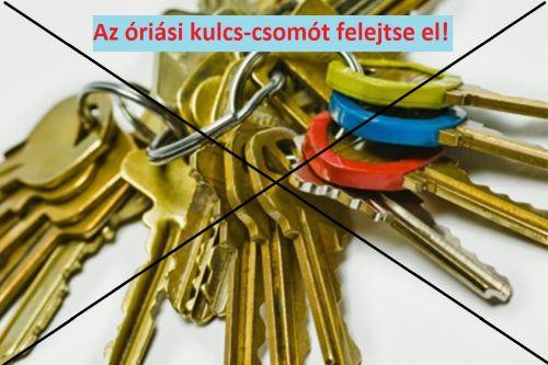 Azonos kulccsal működő zárbetétek